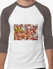 Dogwood Blossoms Men's Baseball ¾ T-Shirt