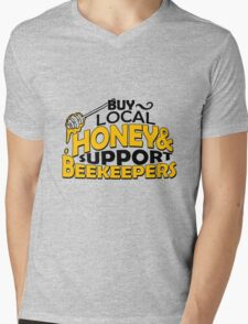 Buy local honey and support beekeepers Mens V-Neck T-Shirt