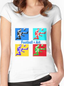 Football = art Women's Fitted Scoop T-Shirt