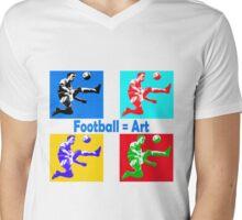 Football = art Mens V-Neck T-Shirt