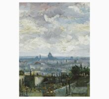 1886-Vincent van Gogh-View of Paris One Piece - Long Sleeve
