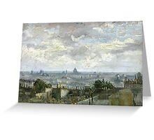 1886-Vincent van Gogh-View of Paris Greeting Card