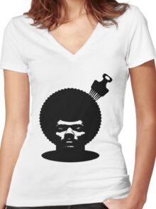 Pete Rock #HD Women's Fitted V-Neck T-Shirt