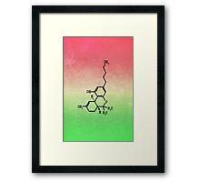 Marijuana - THC Molecular Structure Framed Print