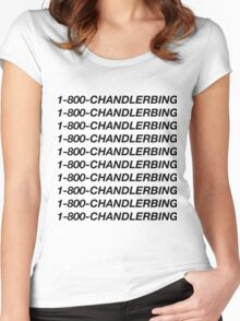1-800-chandlerbing (black) Women's Fitted Scoop T-Shirt