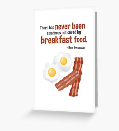Parks & Recreation // Breakfast Food // Ron Swanson Quotable Greeting Card
