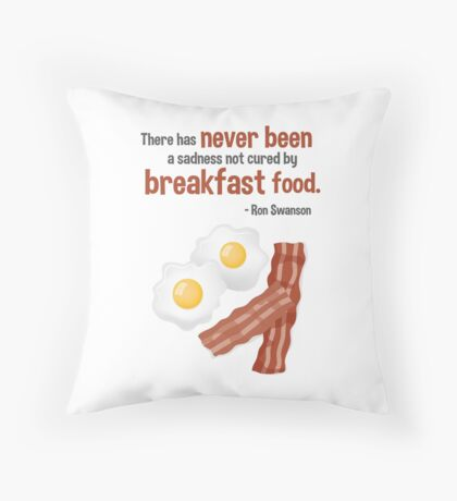 Parks & Recreation // Breakfast Food // Ron Swanson Quotable Throw Pillow