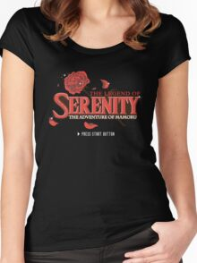The Legend of Serenity, The Adventure of Mamoru Women's Fitted Scoop T-Shirt