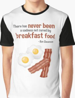 Parks & Recreation // Breakfast Food // Ron Swanson Quotable Graphic T-Shirt