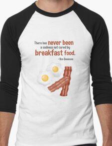 Parks & Recreation // Breakfast Food // Ron Swanson Quotable Men's Baseball ¾ T-Shirt