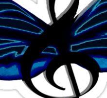 Blue Musical Butterfly Sticker Sticker