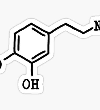 Dopamine - Molecular Structure Sticker