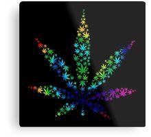Marijuana in Marijuana Leaf [Rainbow] Metal Print