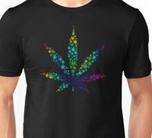 Marijuana in Marijuana Leaf [Rainbow] Unisex T-Shirt