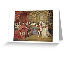 James Stephanoff - The Banquet of Henry VIII in York Place (Whitehall Palace)  Greeting Card