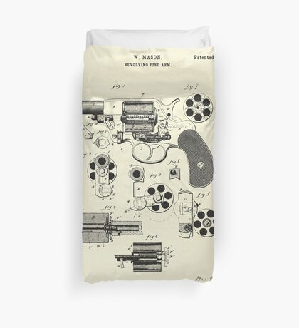 Revolving Fire Arm-1881 Duvet Cover