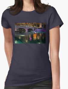 Razzle Dazzle - Colorful Neon Lights Up Canals and Gondolas at the Venetian Las Vegas Womens Fitted T-Shirt