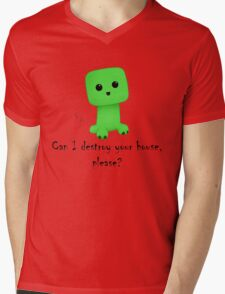 So cute! Mens V-Neck T-Shirt