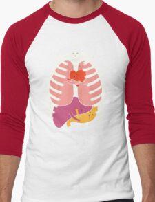 Hugs keep us alive Men's Baseball ¾ T-Shirt