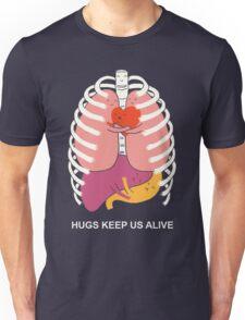 Hugs keep us alive Unisex T-Shirt