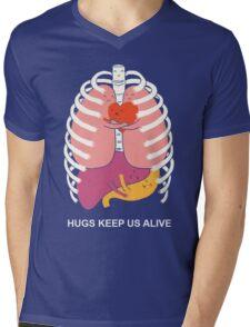 Hugs keep us alive Mens V-Neck T-Shirt