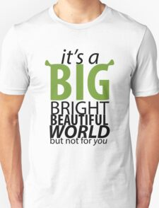 Big Bright Beautiful World- Shrek The Musical T-Shirt