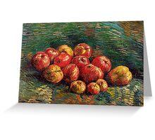 1887-Vincent van Gogh-Apples-46x61,5 Greeting Card