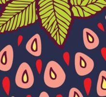 dark strawberries Sticker