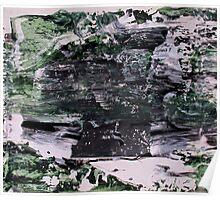Green Mountains - Original Wall Modern Abstract Art Painting Poster