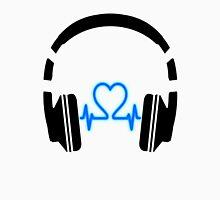 Headphones - Heart Music [Black] Unisex T-Shirt