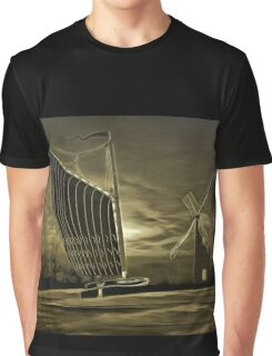 Memories of the Norfolk Broads old print style Graphic T-Shirt