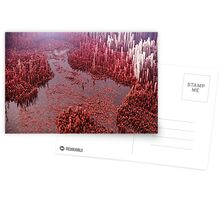 Abstract landscape red Greeting Card