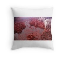 Abstract landscape red Throw Pillow