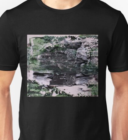 Green Mountains - Original Wall Modern Abstract Art Painting Unisex T-Shirt