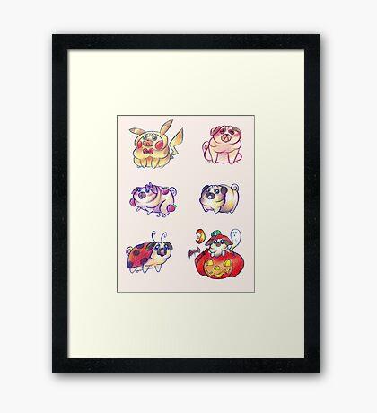 Silly Pugs Framed Print