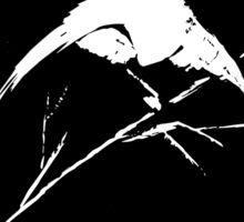 0033 - Brush and Ink - Bird Watcher Vector Rebuild 2 Sticker