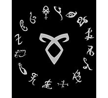 All Runes Symbol - Shadowhunters Photographic Print