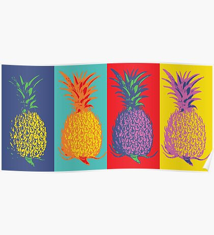 Pineapple Pop-Art Poster