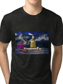 Pharos One of the Seven Wonders of the Ancient World Tri-blend T-Shirt