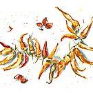 Peppers by Aleksandra Kabakova