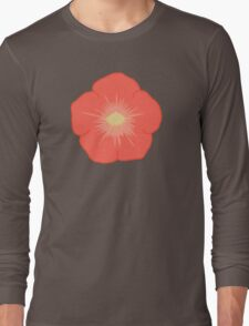 Orange Flower Long Sleeve T-Shirt