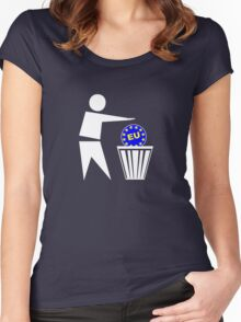 Put the EU in the bin ukip Women's Fitted Scoop T-Shirt