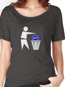 Put the EU in the bin ukip Women's Relaxed Fit T-Shirt