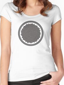 Sunflower Fibonacci Fractal Spiral Women's Fitted Scoop T-Shirt