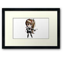 Chibi Playstation Girl Framed Print