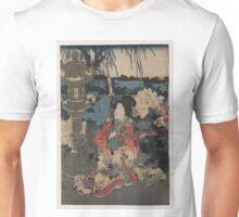 Kunisada Utagawa - Enjoying a Garden of Peonies 1 - Circa 1850 - Woodcut Unisex T-Shirt