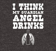 I think my Guardian Angel drinks beer Unisex T-Shirt