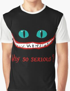 Chever Cat Joker Alice in Wonderland Graphic T-Shirt