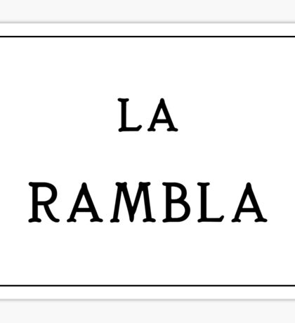 La Rambla, Barcelona Street Sign, Spain - Regular Version Sticker