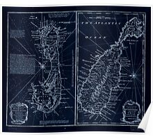 American Revolutionary War Era Maps 1750-1786 131 A new & accurate map of Bermudas or Sommer's Islands taken from an actual survey wherein the errors of Inverted Poster
